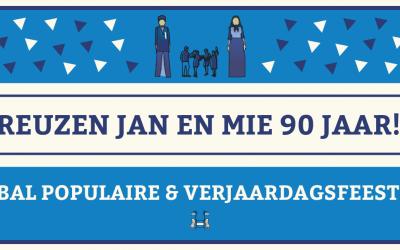 90ste verjaardag reuzen Jan en Mie