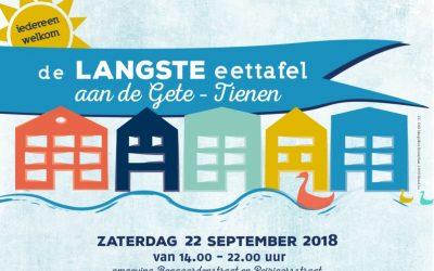 Langste Eettafel 2018 op 22 september